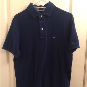 Slim fit Tommy Hilfiger blue polo.